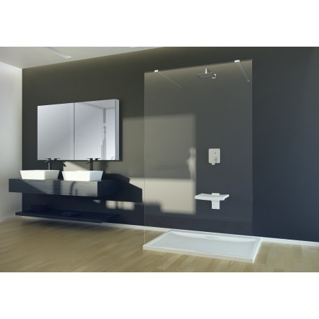 Inloopdouche 100x195 cm Walk In Duo BG-128 transparant glas 8 mm