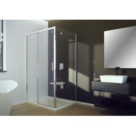 Douchecabine met schuifdeur 100x90x195 cm softclose BG-131 rechthoek transparant glas 8 mm