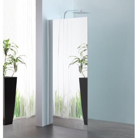 Inloopdouche 90x200 cm Walk In Sanitrend spiegelglas 8 mm met stabilisatiestang 1164302.1211222