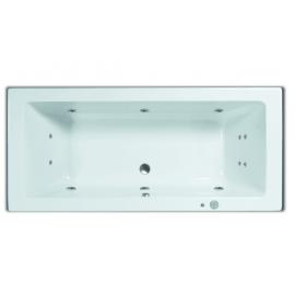 Systeembad 180x80 cm Sanitrend inbouwbad rechthoek injectie water pw6 +4 +2 wit 2.47601.2