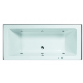 Systeembad 180x80 cm Sanitrend inbouwbad injectie water pw6 wit 2.47610.2