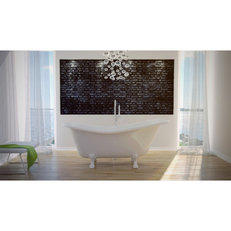 Vrijstaand bad wit BG-24 afm. 160x77 cm met leeuwenpoten wit