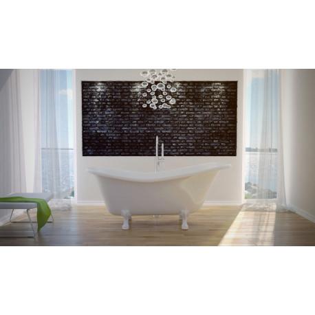 Vrijstaand bad wit BG-24 afm. 170x77 cm met leeuwenpoten wit