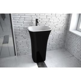 Vrijstaand wastafel 40x50x85 cm BG-46 wit - zwart