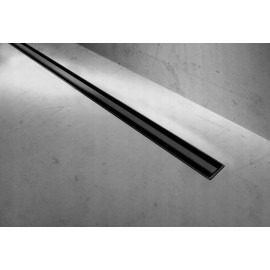 Douchegoot BG Slim 100 cm zwart mat