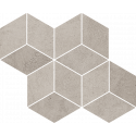 Mozaiek Pure City Grys Romb Hexagon 20,4x23,8 cm