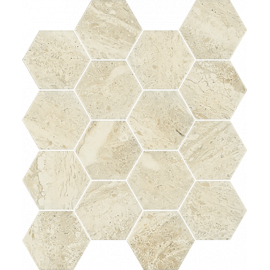 Mozaiek Stone Beige Hexagon 22x25,5 cm