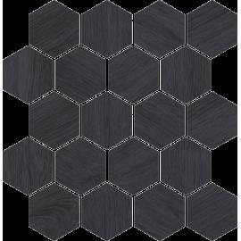 Mozaiek Taiga Grafiet Wood 25,8x28 cm