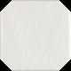 Vloertegels Modern Bianco structuur Octagon mat 19,8x19,8 cm