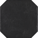 Vloertegels Modern Nero structuur Octagon mat 19,8x19,8 cm