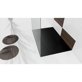 Douchebak 100x80x3 cm zwart mat massief rechthoek Mori