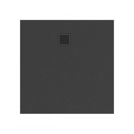 Douchebak 90x90x3 cm grijs mat massief vierkant Mori