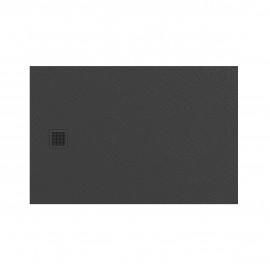 Douchebak 100x80x3 cm grijs mat massief rechthoek Mori