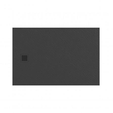 Douchebak 120x80x3 cm grijs mat massief rechthoek Mori