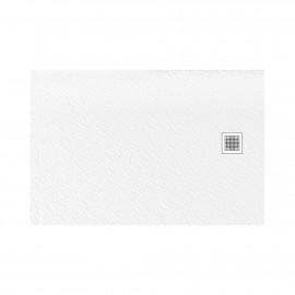 Douchebak 100x90x3 cm wit mat massief rechthoek Mori