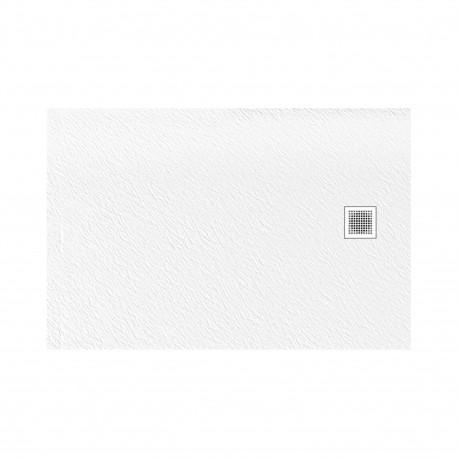 Douchebak 140x80x3 cm wit mat massief rechthoek Mori