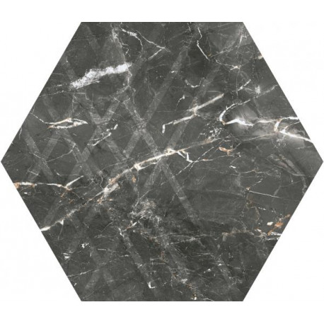 Hexagon Marvelstone Grey 20x17 cm