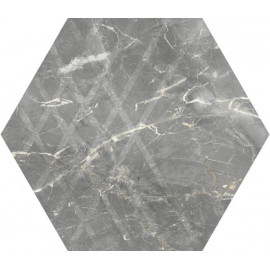 Hexagon Marvelstone Light Grey 20x17 cm