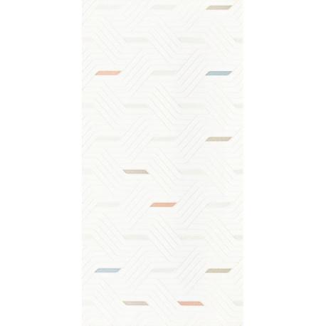 Wandtegels Synergy Bianco Colour inserto mix 30x60 cm glans