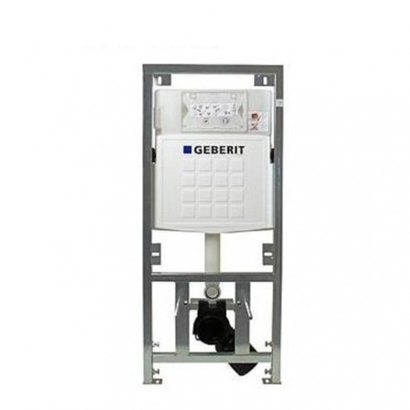Geberit UP320 wc-element met inbouwreservoir frontbediening dual flush en isolatiemat