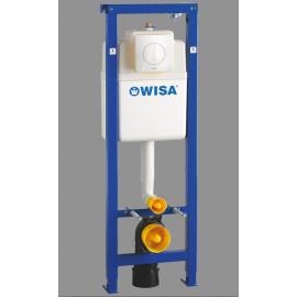 Wisa XS wc-element met inbouwreservoir met frontbediening met Argos bedieningspaneel wit incl. isolatieset wit