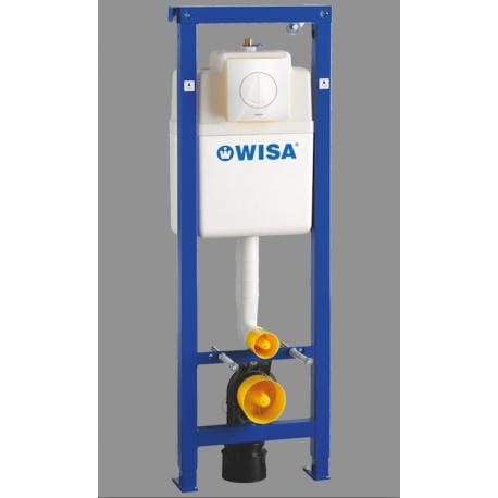 Wisa XS wc-element met inbouwreservoir met frontbediening met Argos bedieningspaneel wit incl. isolatieset wit 17305