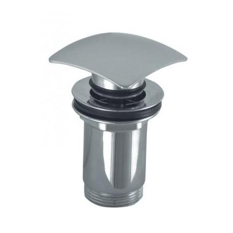 Afvoerplug met drukafsluiting click clack vierkant chroom