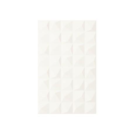Wandtegels 25x40 cm Melby Bianco wit mat structuur