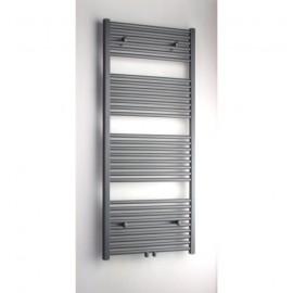 Handdoekradiator 140x50 cm Sanitrend Grijs Metallic Recht 628 W met midden aansl. 1572572
